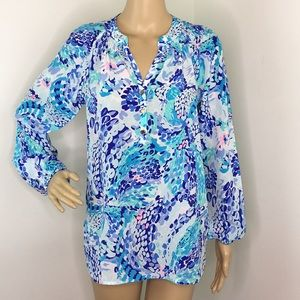 Lilly Pulitzer Love Sleeve Floral Blouse